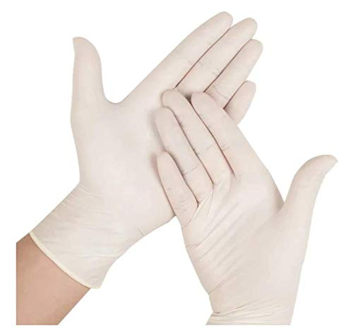 Large Size, Latex Gloves, LRG Qty 200 pcs 100 Pairs Premium Latex Textured Powder-Free, Non-Sterile, Ambidextrous