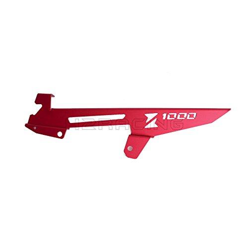 H2RACING Rot Motorrad Kettenradschutz Kettenradabdeckung Kettenschutz Schild Schutz für Z1000SX/Z1000SX ABS 2011-2016,Z1000/Z1000 ABS 2010-2016