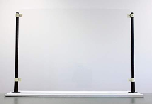 Sneeze Guard Portable Countertop Tabletop – Freestanding Plexiglass Polycarbonate, Shield Cough and Sneeze Guard Shield (36' W x 32/34' H - No Cutout)