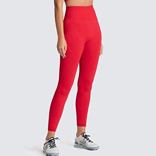 Mdsfe Naadloze turnbroek dames sport lopen fitness panty sport high taille yoga broek maat 12 kleuren Medium Rood 1-a1273