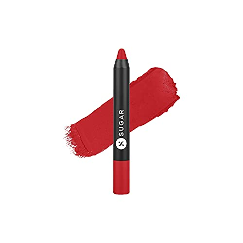 Sugar Cosmetics Matte As Hell Crayon Lipstick01 Scarlett O'hara (Red)Highly pigmented, Creamy Texture, Long lasting Matte Finish