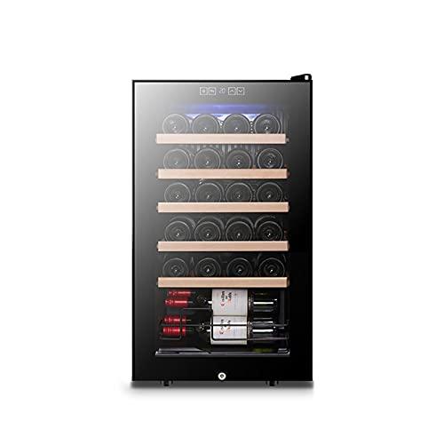 MIAOYO Independiente Compresor Refrigerador De Vino,24 Botella Vinoteca,Vinoteca,Nevera De Vino para Tintos Vino Blanco,Champán Y Más,Negro,43x45x74cm