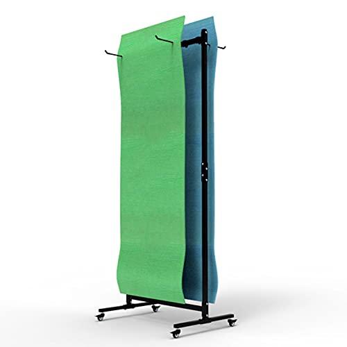 Gran Capacidad Colgador de Esterilla de Yoga con Ruedas, Metal Soporte de Rodillo de Espuma para Estudio de Yoga/Gimnasio, Sostenga 40 Colchonetas de Ejercicio