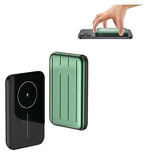 15W Power Bank 10000mAh PD QC Magnético Rápido Adsorbible Cargador Rápido Para Todos Los Teléfonos Inteligentes Mini- Ultra Delgado Imán Inalámbrico De Carga Tesoro Batería Auxiliar