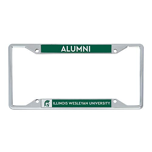 Illinois Wesleyan University IWU Titans Metal License Plate Frame for Front or Back of Car Officially Licensed (Alumni)