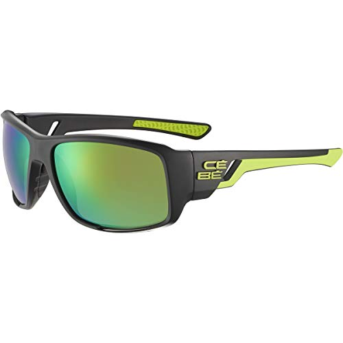 Cébé Northshore Gafas de sol Adultos unisex Matt Black Lime Medium
