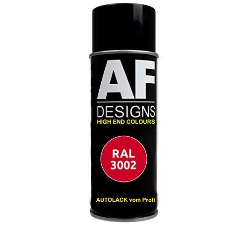 Alex Flittner Designs RAL Lackspray Autolack Sprühdose Spraydose RAL3002 Karminrot glänzend