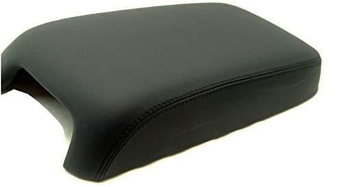 Fits 2011-2018 Dodge Charger Synthetic Black Leather Center Console Armrest Cover . (Skin Only)