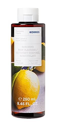 KORRES Basil Lemon Revitalisierendes Duschgel mit aktiv Aloe-Vera, dermatologisch getestet, vegan, 250 ml