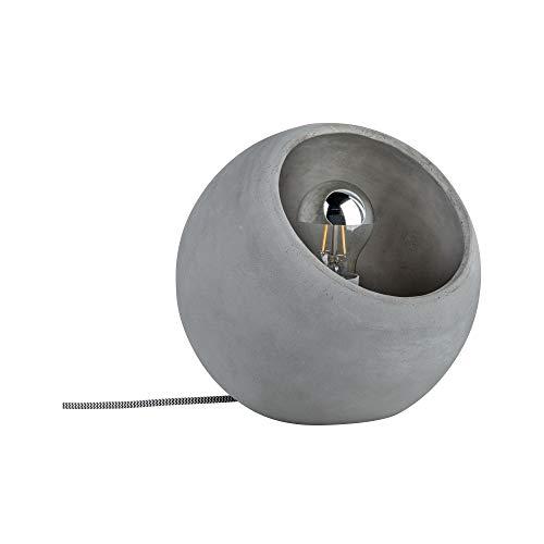 Paulmann 79663 Neordic Ingram Tischleuchte max. 1x20W Tischlampe für E27 Lampen Nachttischlampe Grau 230V Beton ohne Leuchtmittel