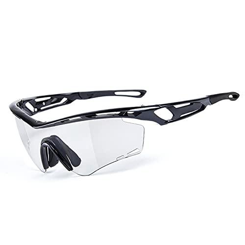 YHSW Gafas Deportivas,Gafas de Ciclismo fotocromáticas con Lentes Inteligentes Tres en uno para Hombres y Mujeres Gafas Deportivas al Aire Libre Gafas de Sol Protectoras UV400 Unisex