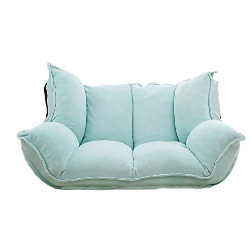 TWDYC Sofá y sofá de Piso Ajustable for Sala de Estar y Dormitorio Plegable con Asiento reclinable Love Seat (Color : Blue)