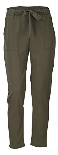 Perandu - Pantaloni da donna Verde militare S