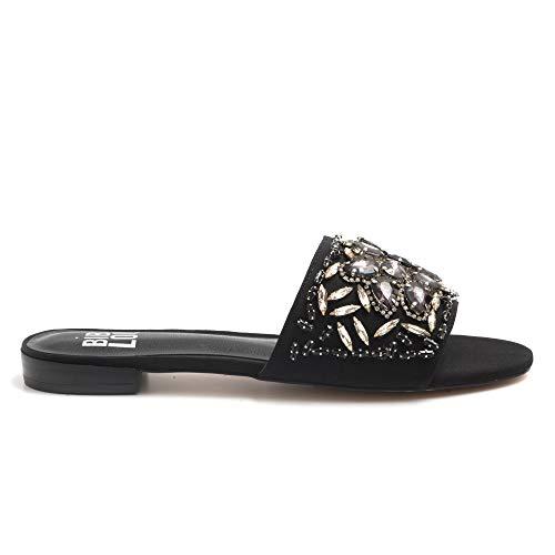 Bibi Lou Pantolette zwart met edelstenen - 762Z 60VK zwart - maat