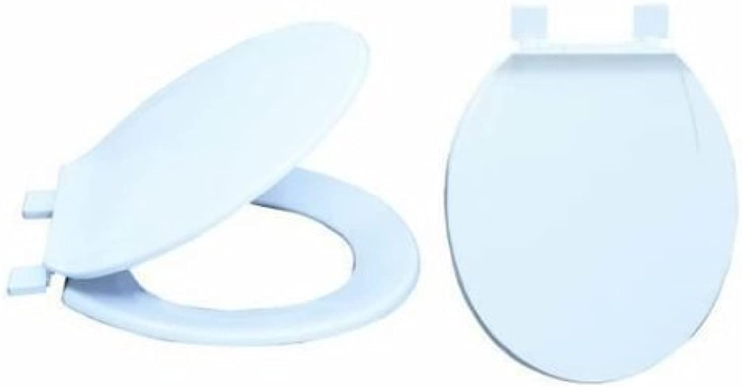 EZ-FLO 65901 Plastic Toilet Seats with Lid by EZ-Flo