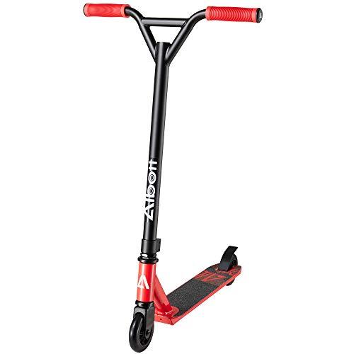 Albott Stunt Scooter 360° Lenkung Sports Tretroller Roller mit 100mm PU Wheels Kickscooter für Kinder Erwachsene (Rot)