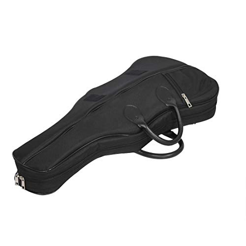 Ilyssm 4/4 Estuche para violín de tamaño Completo, Funda rígida para violín de Forma Triangular Profesional, Bolsa de Transporte portátil súper Ligera con Correas para Mochila
