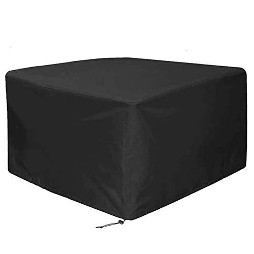 QIAOH Garden Furniture Cover 97x73x40in, 420D Outdoor Furniture Covers Waterproof, Heavy Duty Rip Proof Garden Table Cover Anti-Uv -Windproof Patio Set Cover
