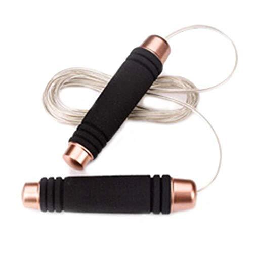 MAOX Corde à Sauter Corde à Sauter poignée en Plastique Anti Slip en Acier Rapide en Mousse Confortable Pad Speed Fil Corde à Sauter Maigrir Gym Accueil PE Supply (Color : BK)