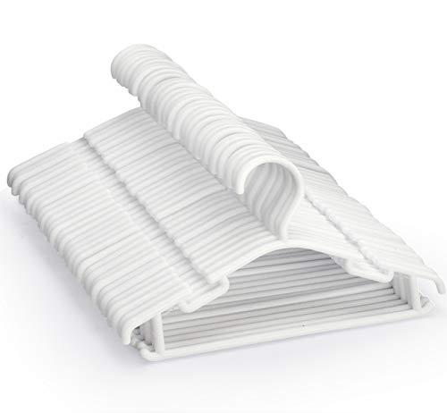 48Stk Kleiderbügel Kinder Kinderkleiderbügel Amateco Babykleiderbügel Kunststoff Hangers Aufbewahrung Kleiderbuegel für Kleiderschrank Schrank Kleidung Länge 27cm in Weiß