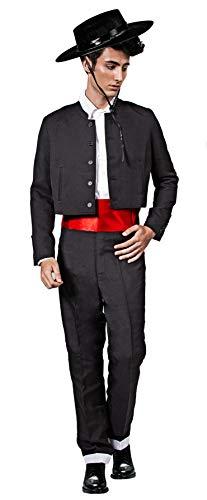 Gojoy shop- Traje Corto Flamenco Disfraz Cordobés para Hombre para Ferias, Romerías y Cruces de Mayo, Contiene Sombrero, Chaqueta, Chaleco, Camisa, Pantalón y Faja. 6 Tallas Diferentes. (M)