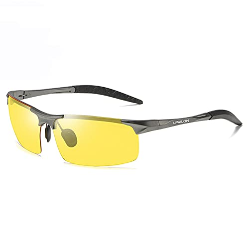 mjuwzghy Mujer Gafas de Sol Hombre Modelo Retro Gafas de Sol fash polarzied Lente UV400