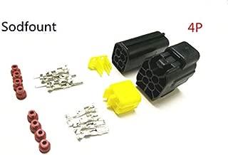 Davitu 5 set 4 Pin Way Waterproof Wire Connector Plug Car Auto Sealed Electrical Set Car Truck connectors