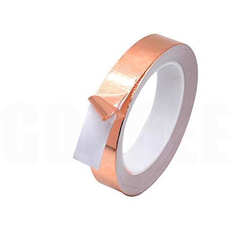 Tings 1PCS 20M 3mm 4mm 5mm 6mm 7mm 8mm Enkelzijdig Geleidende Koperfolie Tape Strip LijmAfscherming Hittebestendige Tape breedte, 8mm, 20M