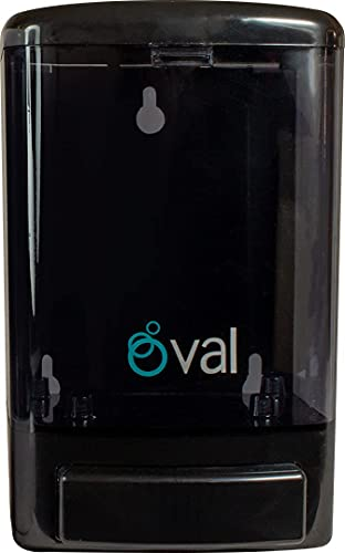 OVAL Dispensador Rellenable de Jabón Líquido Negro/Humo Capacidad de 1 litro   Plástico ABS Uso Rudo Sistema Anti Goteo Confiable y Durable   Jabonera de Gel Antibacterial para Manos   Despachador de Jabón de Pared Baños Comerciales y Casa