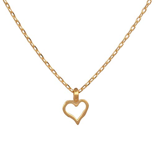 Satya Jewelry NG046-HRT-L16 Women's Necklace Gold Heart Pendant Expression of Love Approx. 40 cm Silver 925 Gold-Plated