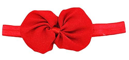 Fascia per Capelli Bebe - Neonata - Tulle - Fiocco Nastro - Bimbe - Bambine - Elastica - Bebe - Neonata - Rosso - Accessori - Idea regalo originale