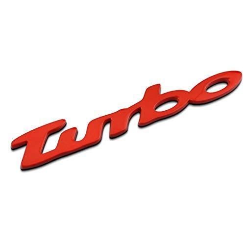 None/Brand Turbo Auto Posteriore Anteriore Adesivo Decalcomania Emblema Stemmi Emblemi Distintivo per C-Hevrolet Malibu Cruz - Chrome,Rosso