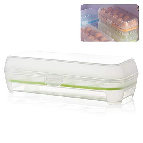 Ourine 10 Grids Ei Aufbewahrungsbox, 10 Grids Ei Aufbewahrungsbox Kühlschrank Anti-Collision Egg Tray Container Grün