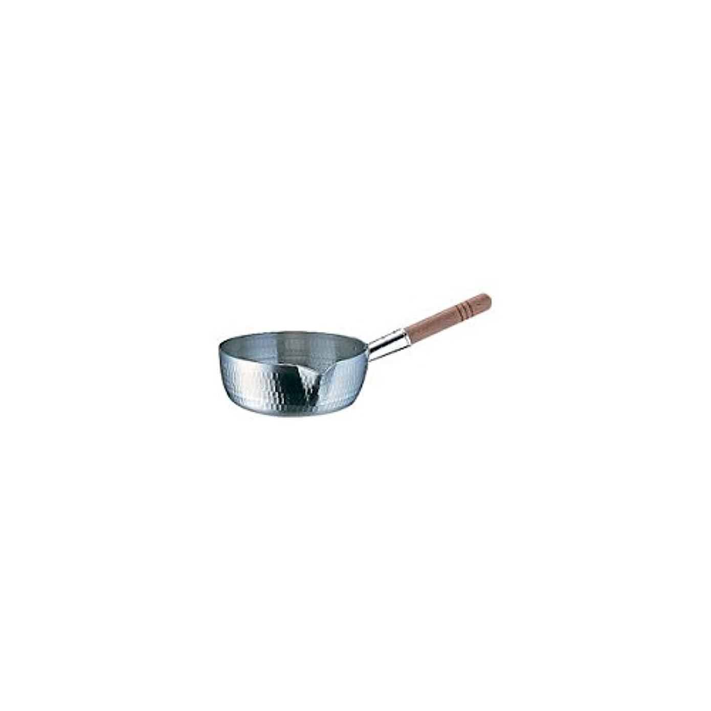 ピアノ牛とアカオアルミ DONカラス口雪平鍋 18cm アルミニウム合金、ハンドル(天然木) 日本 AYK06018