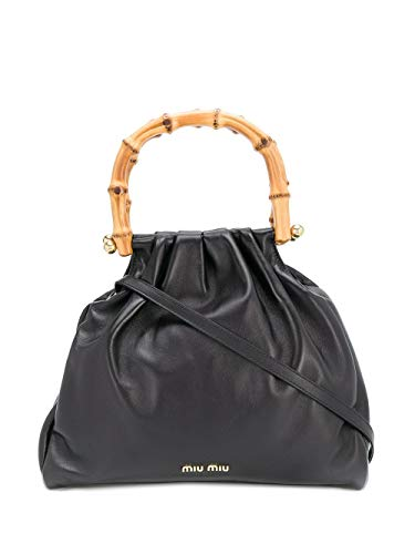Miu Miu Luxury Fashion Damen 5BA177VBOO2C9MF0002 Schwarz Leder Handtaschen | Frühling Sommer 20