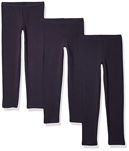 Hanes Little Girls' Leggings (Pack of 3), Navy, Medium