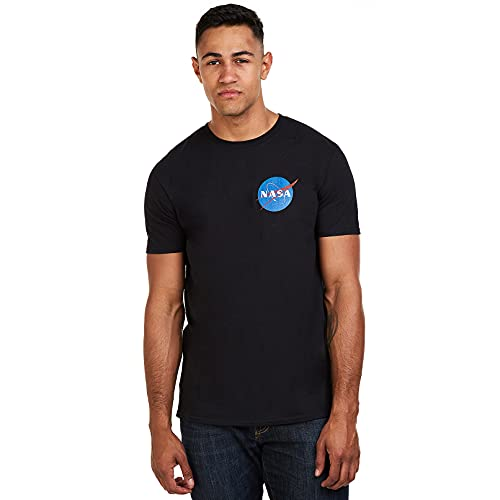 Nasa Core Logo T-Shirt, Nero (Black Blk), Medium Uomo