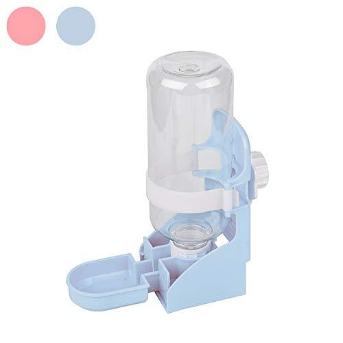 kathson Rabbit Water Feeder, 17oz Hanging Water Fountain Automatic Dispenser No Leak Water Bottle for Bunny Chinchilla Guinea Pig Hedgehog Ferret (Blue)