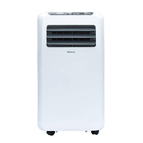 Shinco SPF2-10C 10,000 BTU Portable Air Conditioner,Dehumidifier Fan Functions,Rooms up to 300-450 sq.ft, Remote Control, LED Display, White