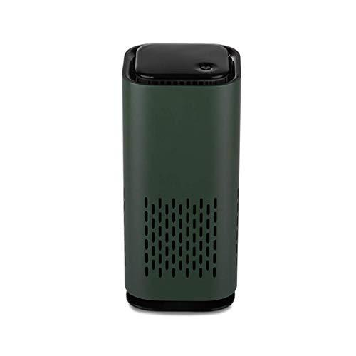 DSY Purificador de Aire, Mini Limpiador de Aire Hepa Portátil con Filtros de Carbono Activados para Vehículos en Casa para Poo, Olor, Alergias, Mascota, Humo Máquina de aromaterapia/Green