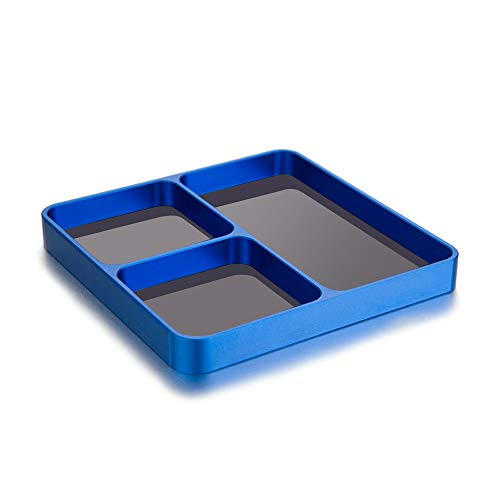 Aibecy - Accesorios para impresora 3D, tornillos magnéticos de mesa, herramientas, soporte para tablet, caja organizadora, para piezas de metal, tornillos, llaves, pernos, lápices, organización