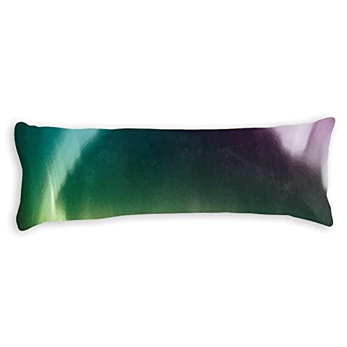 Funda de almohada de algodón 150 x 50 cm con cremallera, hermosa y fresca Aurora Body Funda de almohada decorativa floral para cama para niños para adultos y niñas