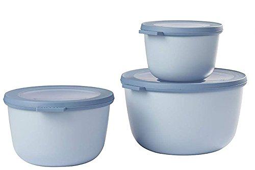 Mepal (500+1000+2000 Blue cirqula Set 3 dlg, Plastik, Nordic Blau, 19.2 x 12 cm