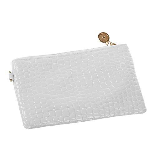 Umhängetasche Damen Clutch Mode Umhängetasche Leder Clutch Handtasche Einkaufstasche Hobo Messenger Bag Weiß
