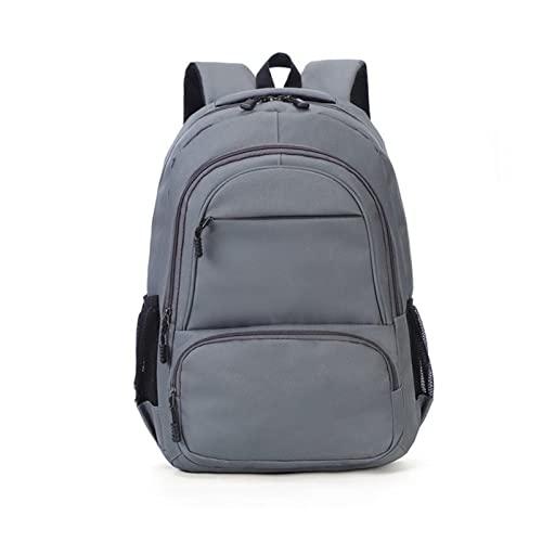 Mochila de los Hombres Viajar por Laptop de Gran Capacidad (Color : Gray, tamaño : 45 * 18 * 30CM)