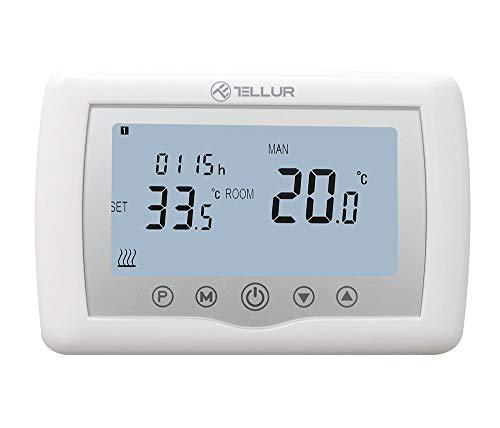Tellur Smart WiFi Thermostat, Steuerung über Telefon-App, Kompatibel mit Alexa und Google Assistant, Kindersicherung, Zeitplan, programmierbar, Frostschutz