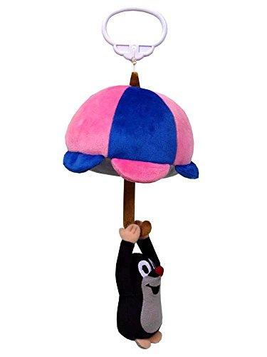 Trullala Plüschfigur, der kleine Maulwurf-Spieluhr am Regenschirm, aus der ''Sendung mit der Maus'' 30 cm