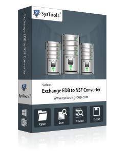 SysTools Exchange EDB à NSF (livraison par courrier électronique - pas de CD)