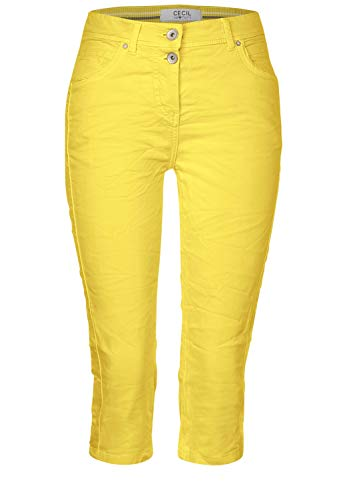 Cecil Damen 373138 TOS Vicky 19inch Hose, Radiant Yellow, W34/L19