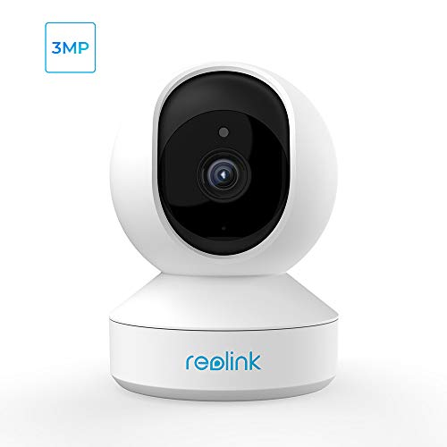 Security Camera Indoor, Reolink E1 3MP HD Plug-in WiFi Camera for Home Security, Pan Tilt Baby Monitor/Pet Camera, Night Vision, Works with Alexa/Google Assistant